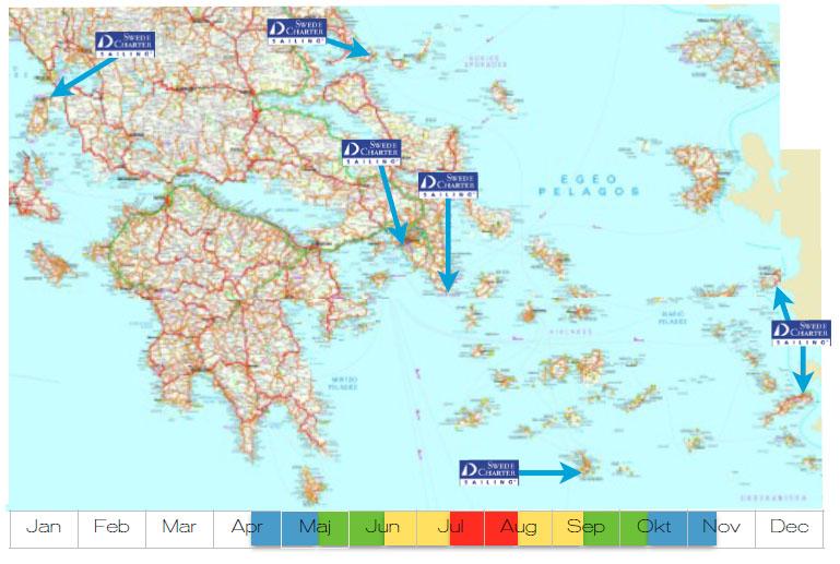 Karta greklands öar