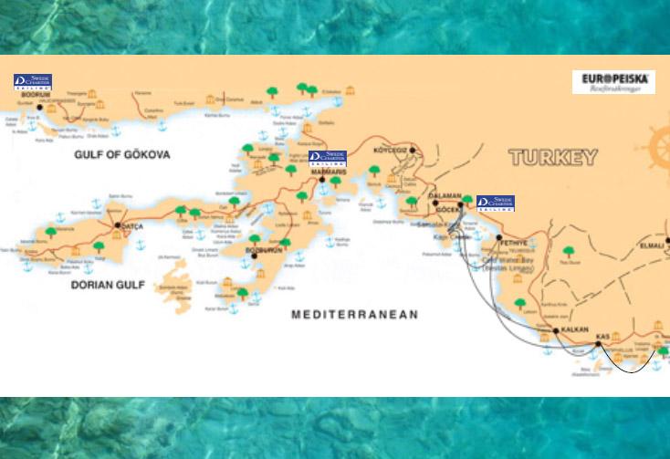 Karta Europa Turkiet.Segla I Turkiet Swedecharter